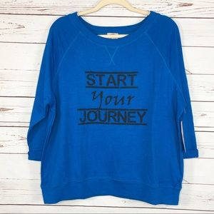 Pink Lotus Blue Start Your Journey Sweatshirt XL